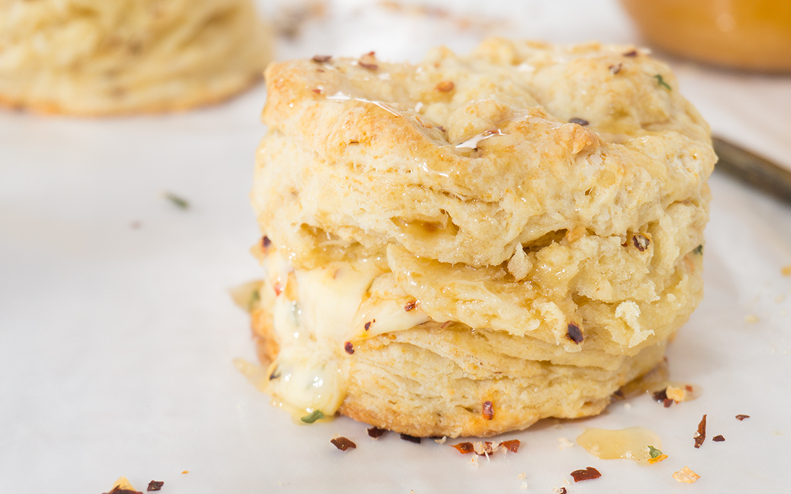 Vegan Spicy Sriracha Buttermilk Biscuits