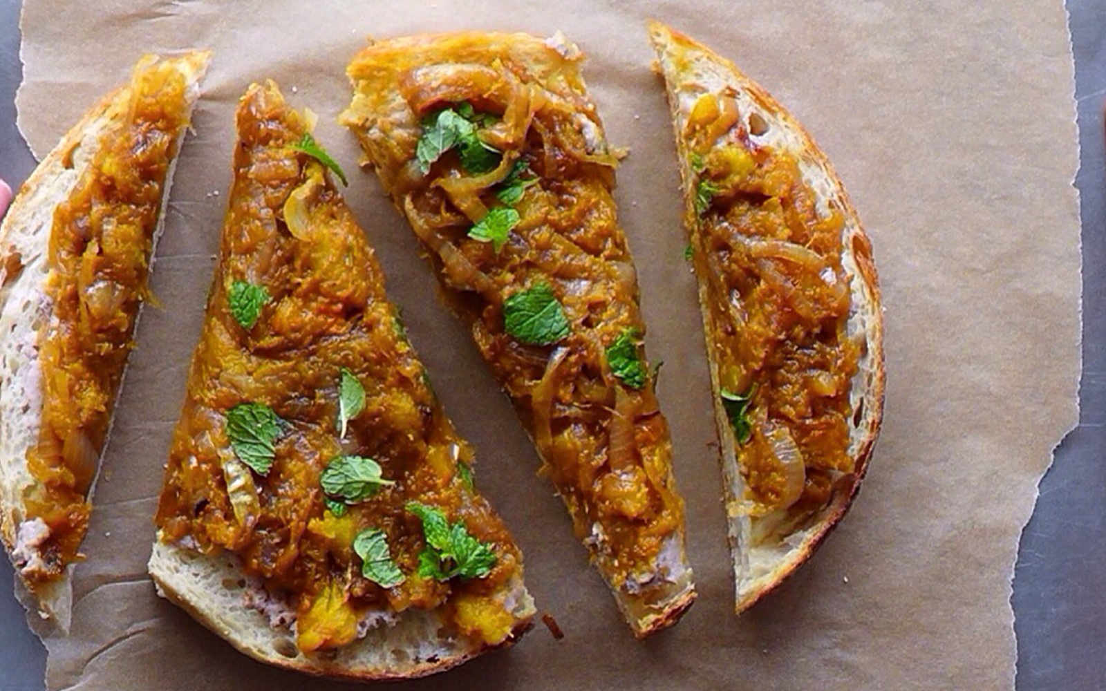Caramelized Squash Toast