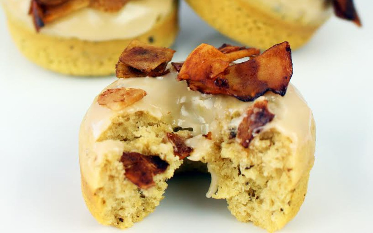 Coconut Maple Bacon Doughnuts