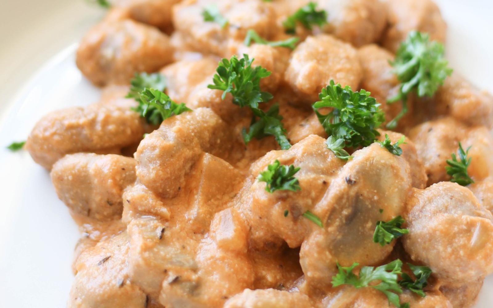 Vegan Mushroom Stroganoff Gnocchi