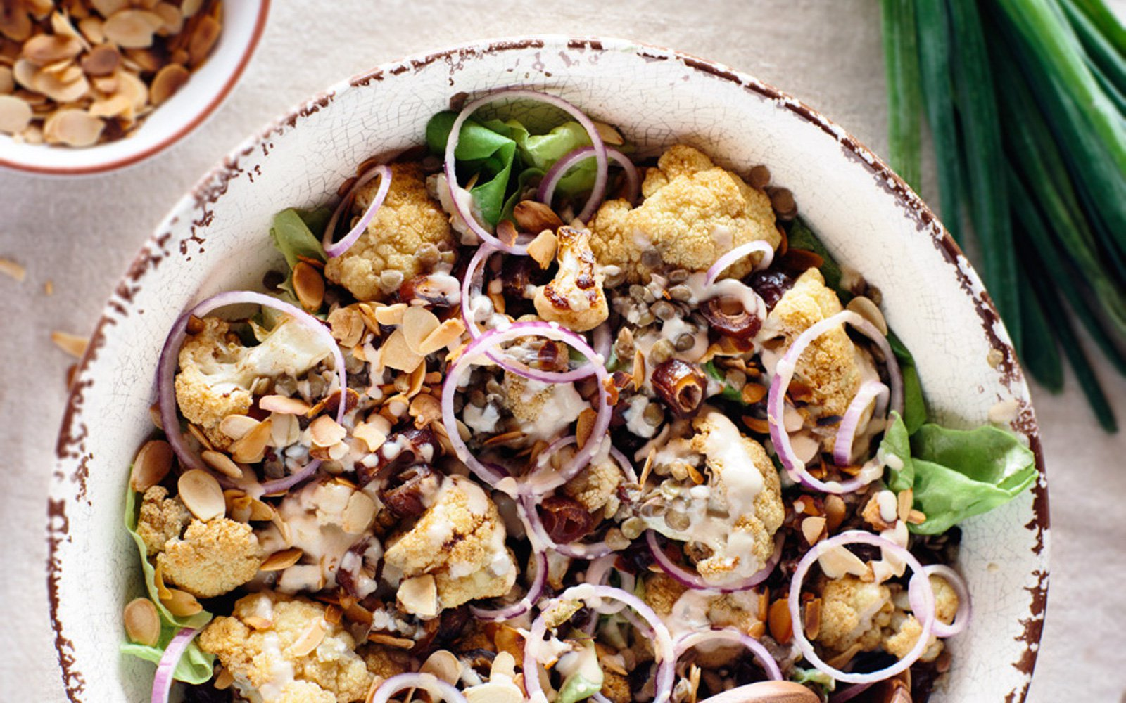 ROASTED CAULIFLOWER SALAD WITH DATES