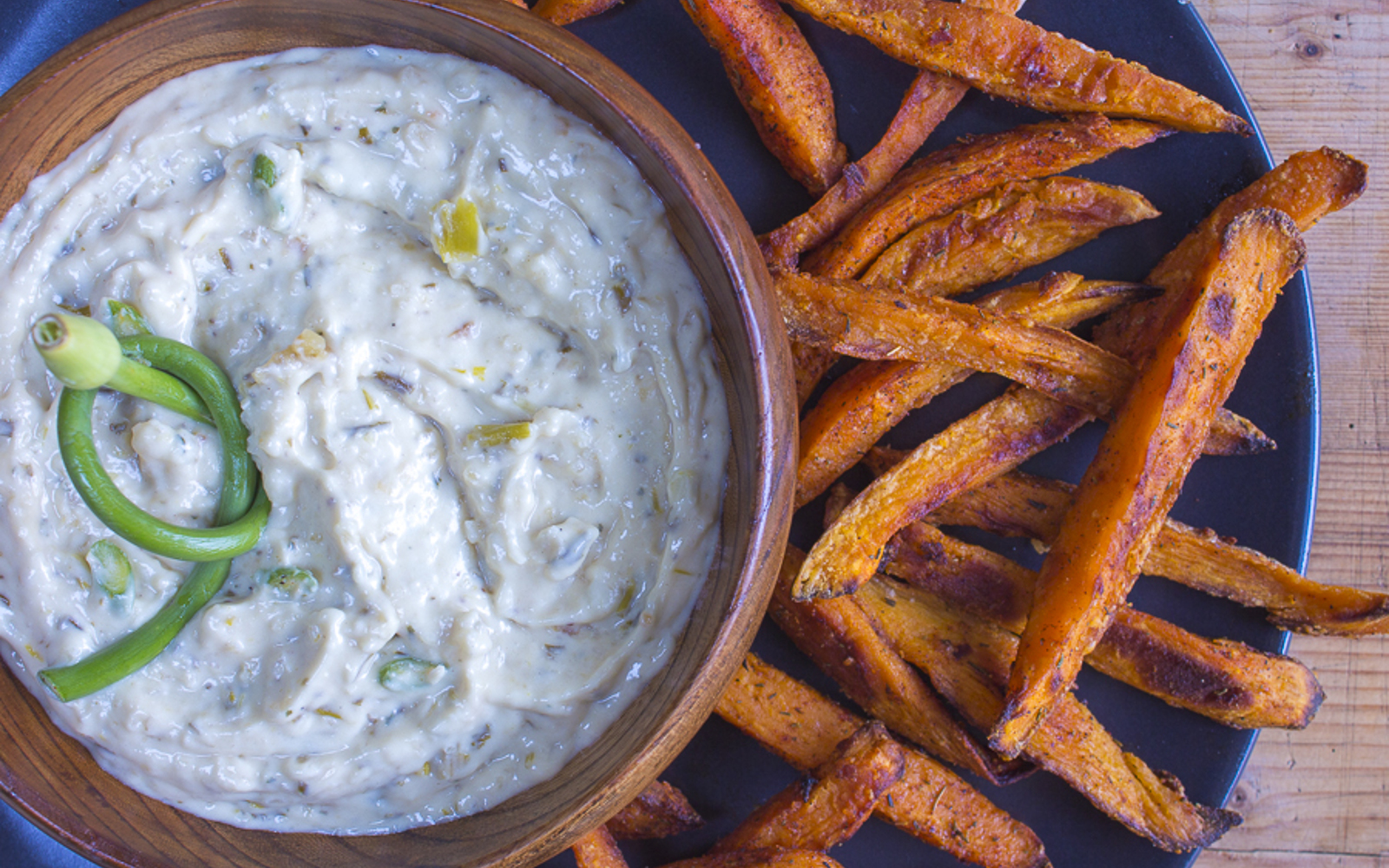 Healthier Roast Garlic and Onion Dip
