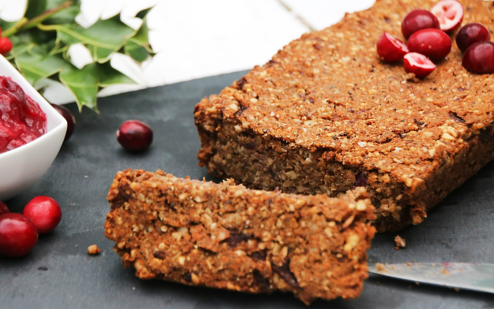 Nut Roast With Cranberry Orange Compote