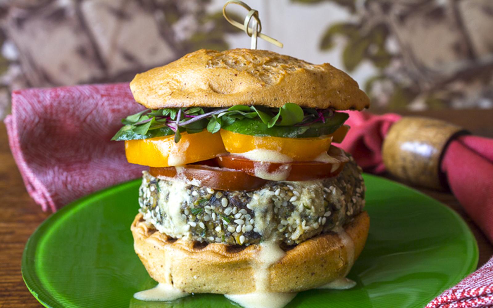 Portobello Falafel Burger