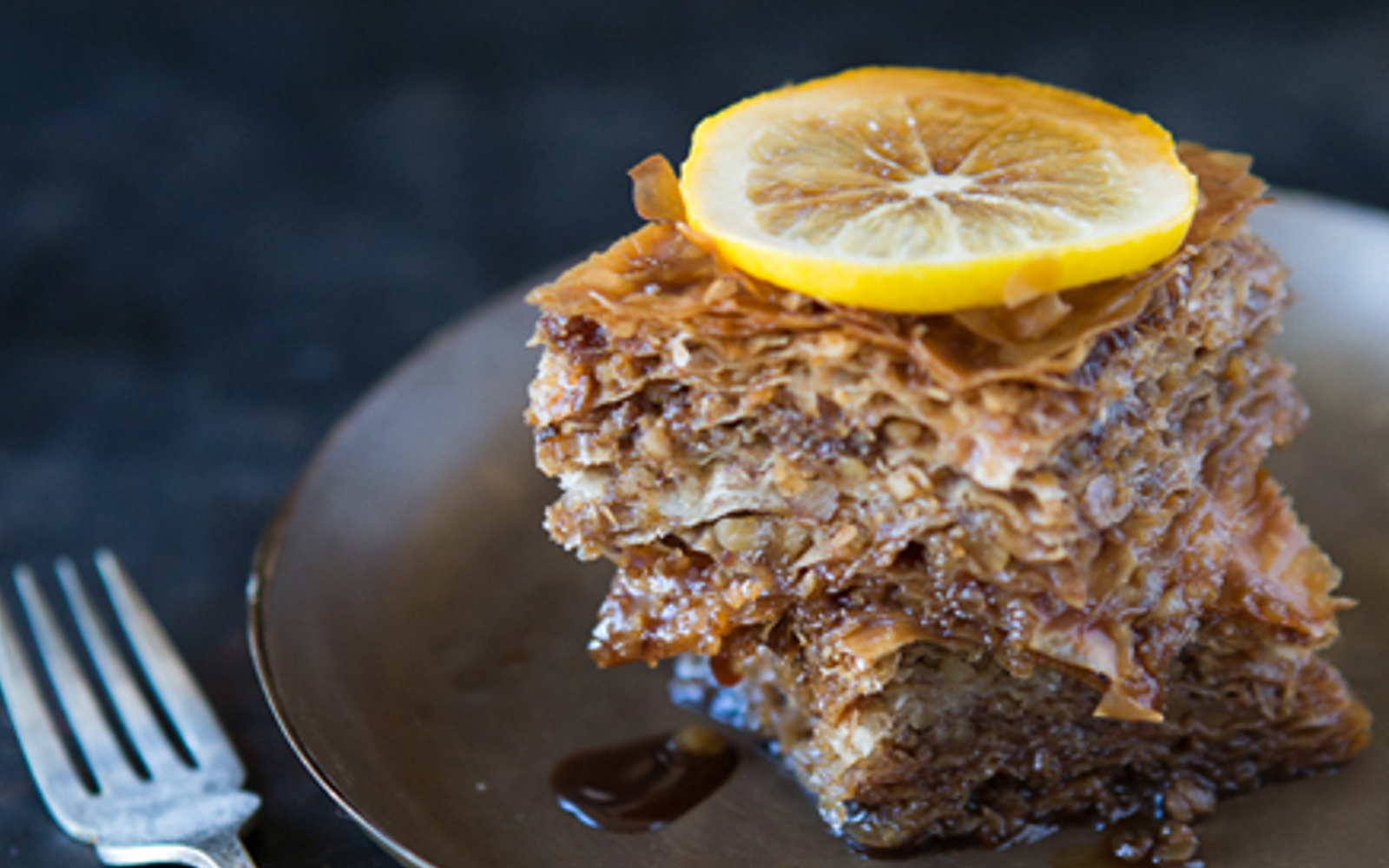 Easy Vegan Baklava with orange