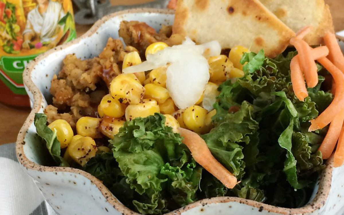 Vegan Savory Lentil Oatmeal Taco Bowl