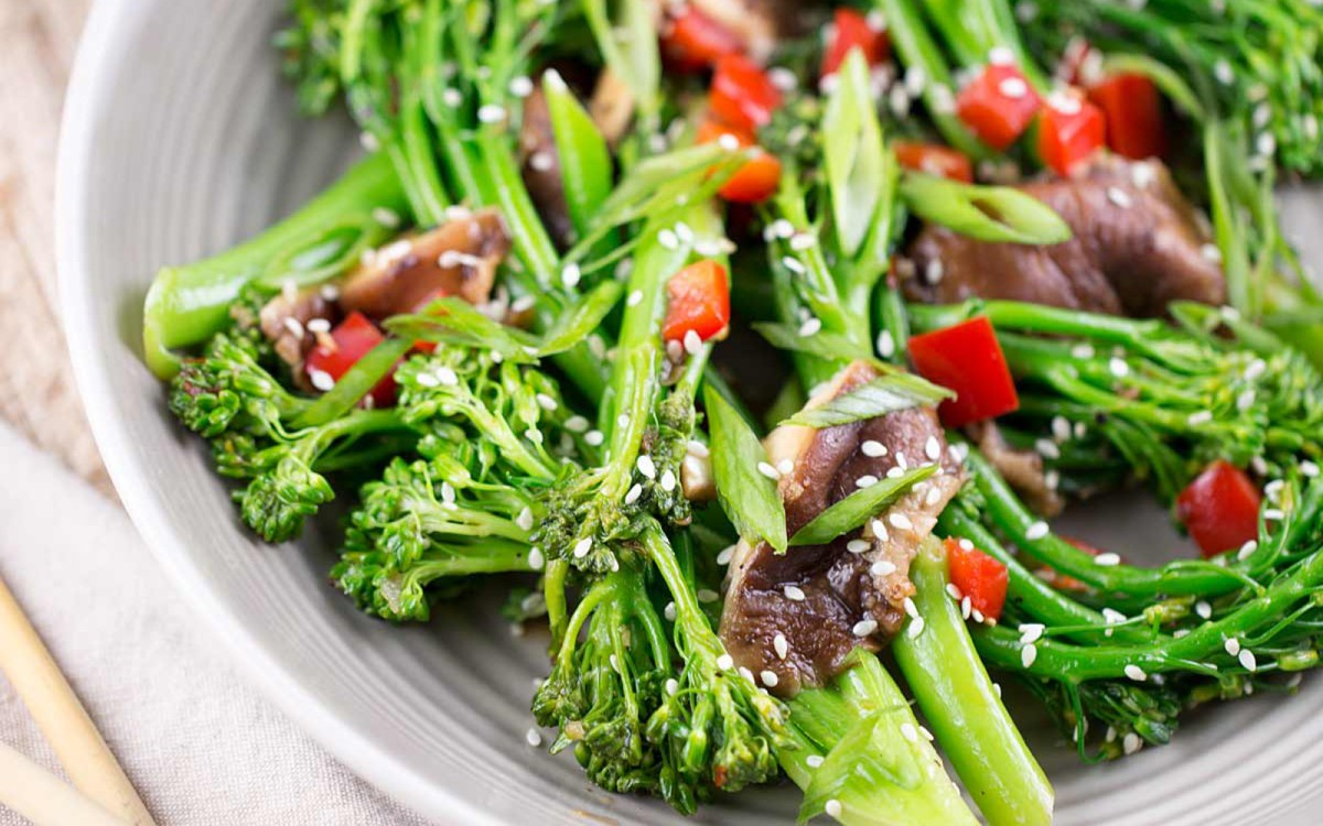 Broccolini and Shiitake Stir-Fry [Vegan, Gluten-Free ...