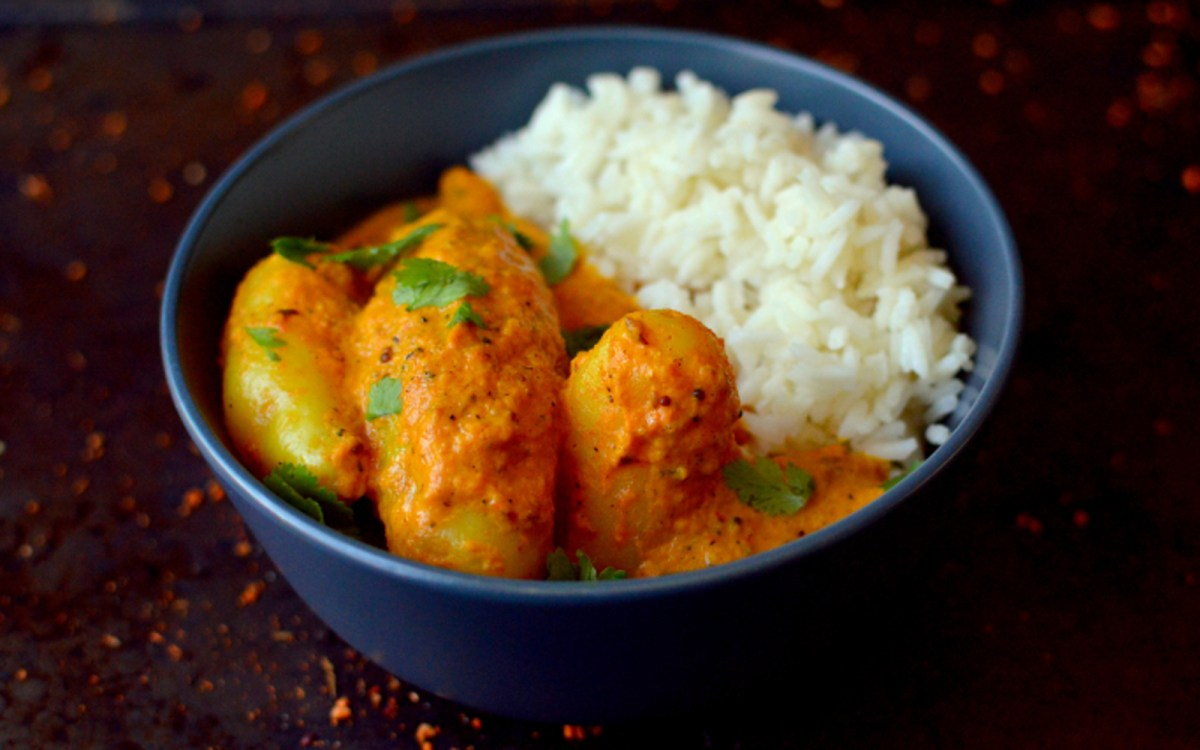 Easy Potato Curry With Star Anise Rice