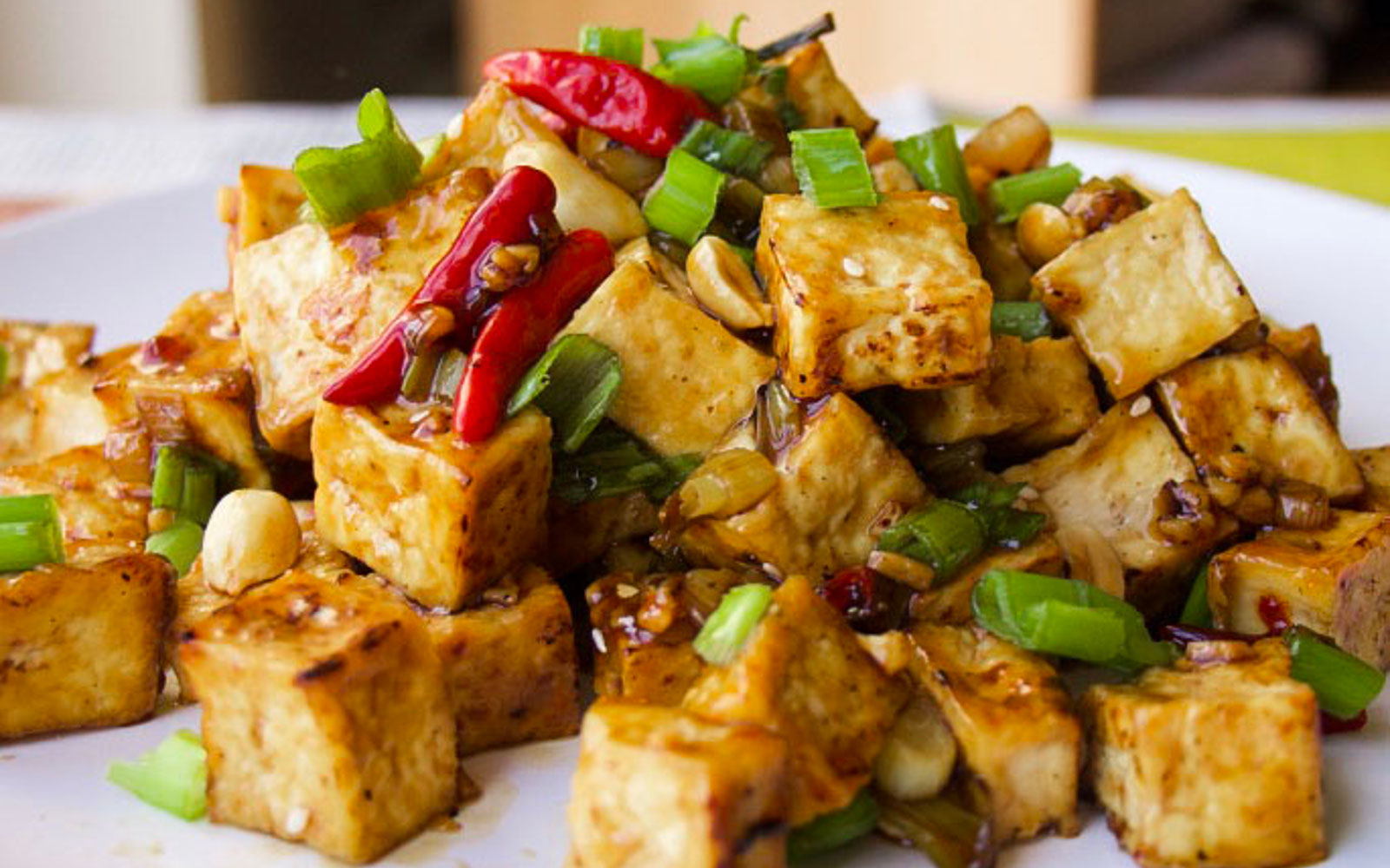 Vegan Oil-Free Kung Pao Tofu