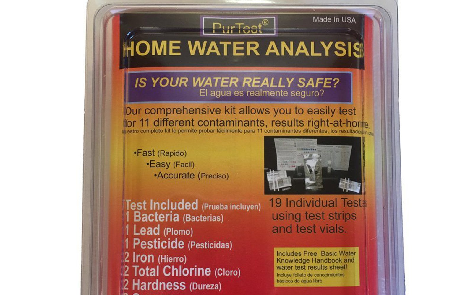 find out how safe your drinking water is with this purtest home drinking water test kit this fast and easy test can detect the presence of 11 different