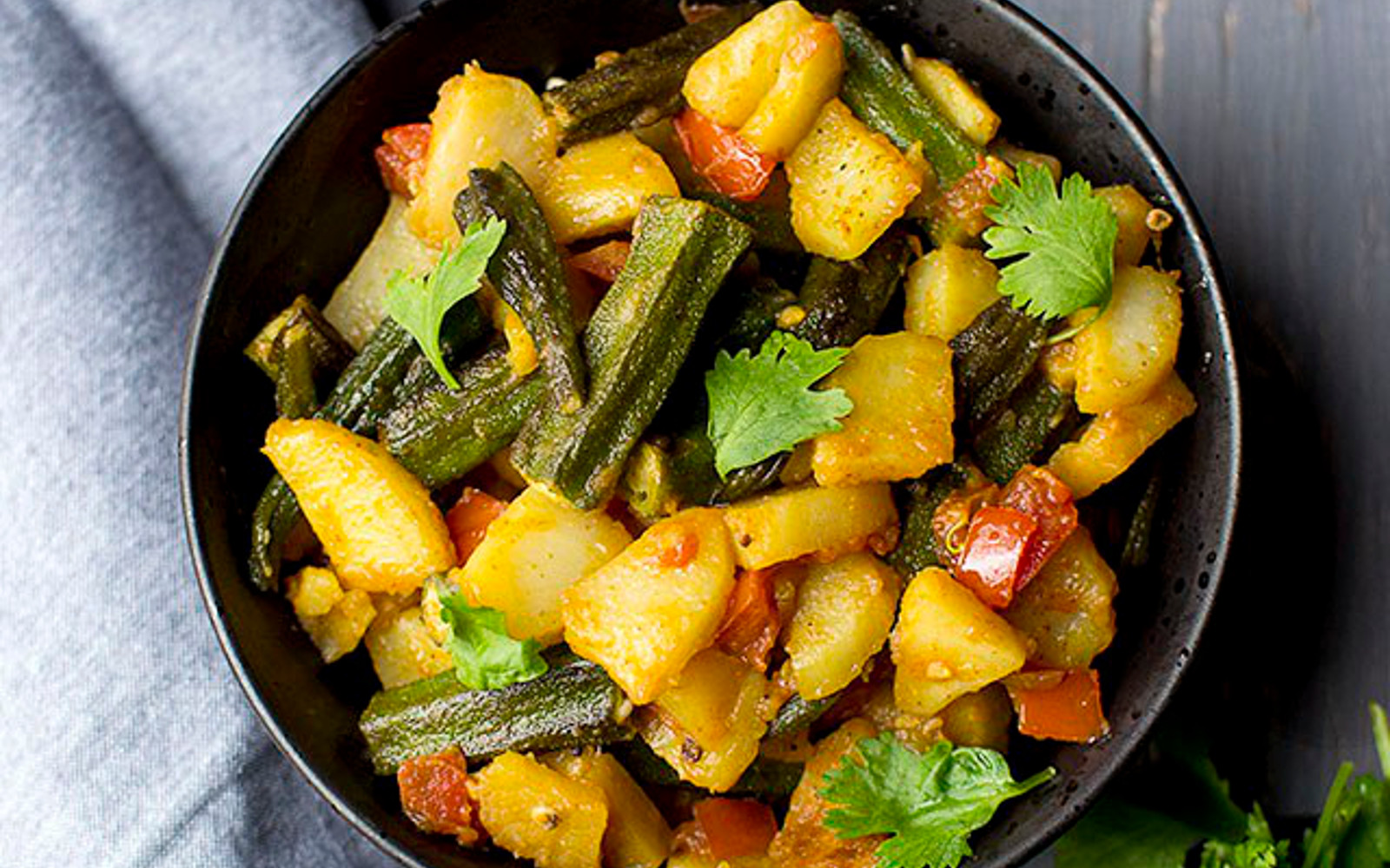Aloo Bhindi ki Subzi: Potato-Okra Curry