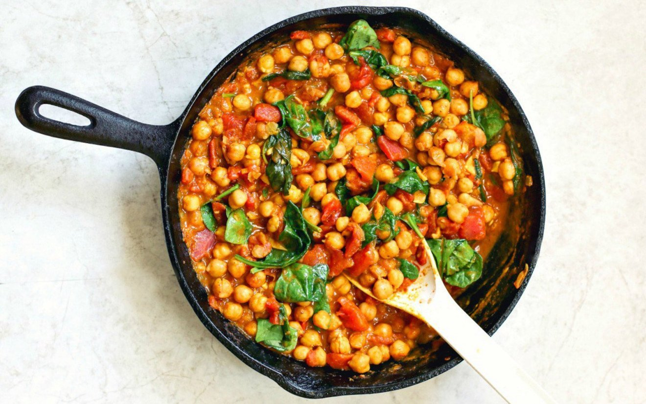 Vegan Chickpea and Spinach Curry
