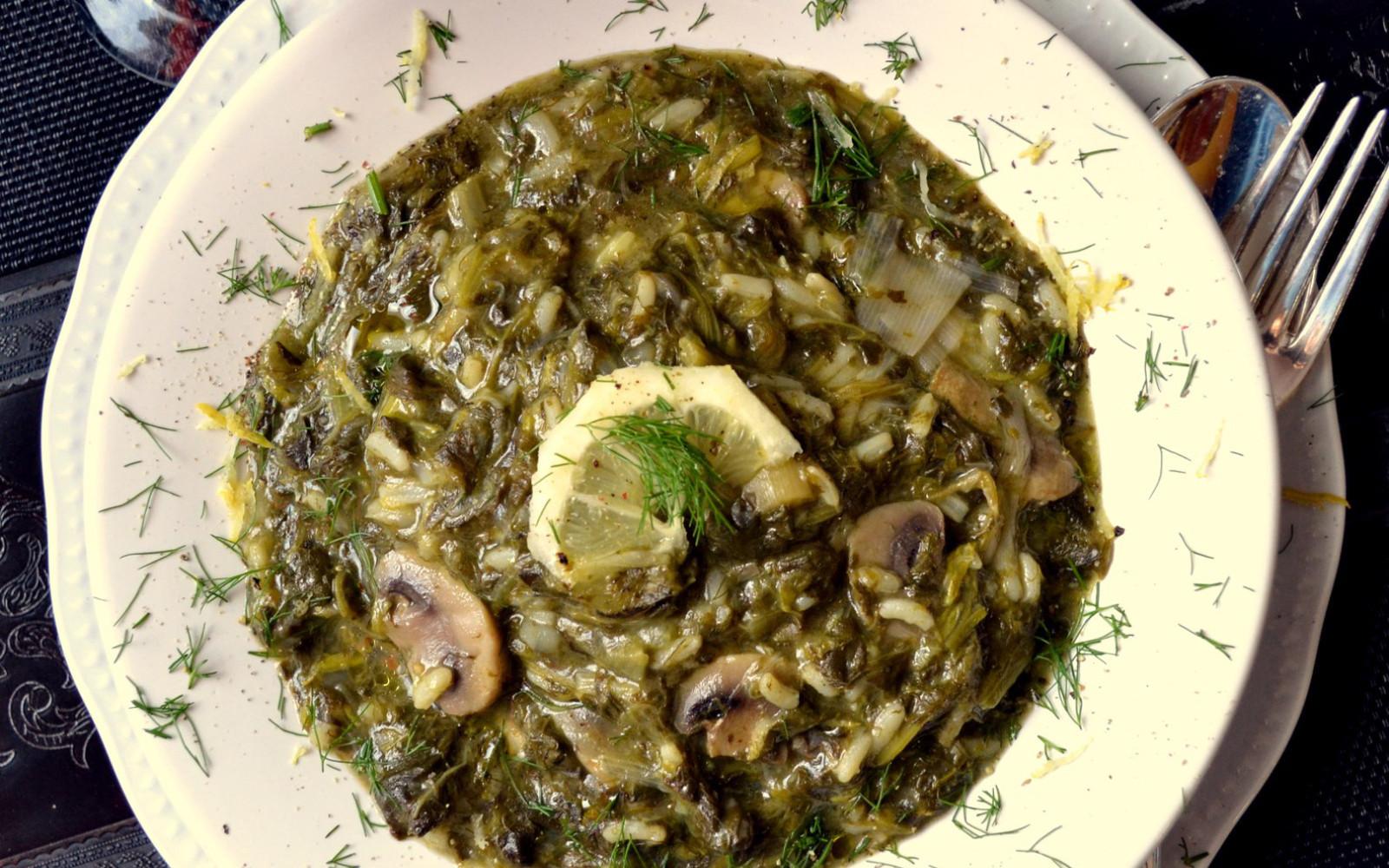 Vegan Magiritsa: Greek Mushroom Soup