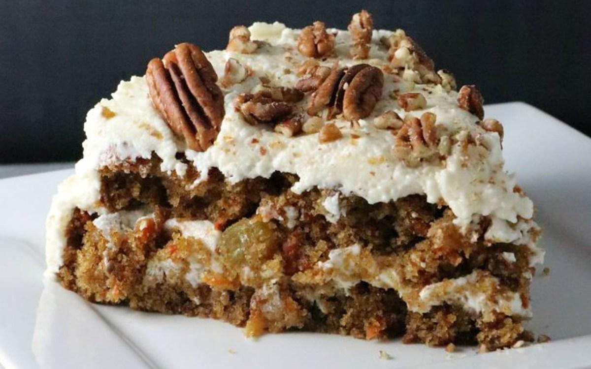 Vegan Pecan Carrot Cake