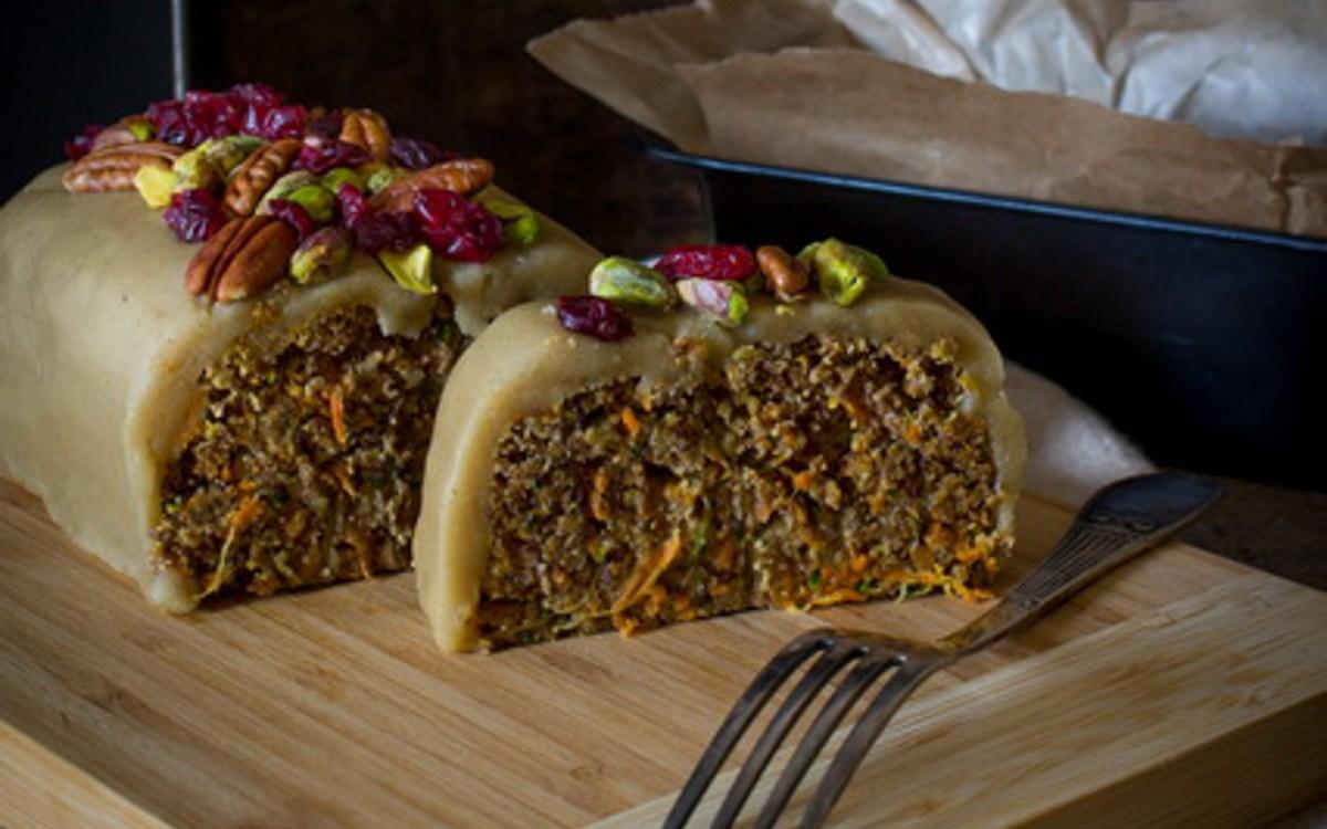Vegan Raw Zucchini Carrot Cake