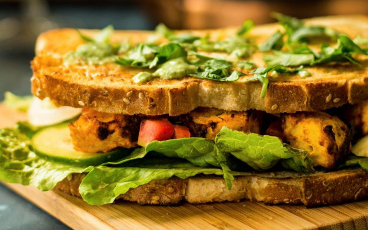 Tandoori Sweet Potato Sandwich