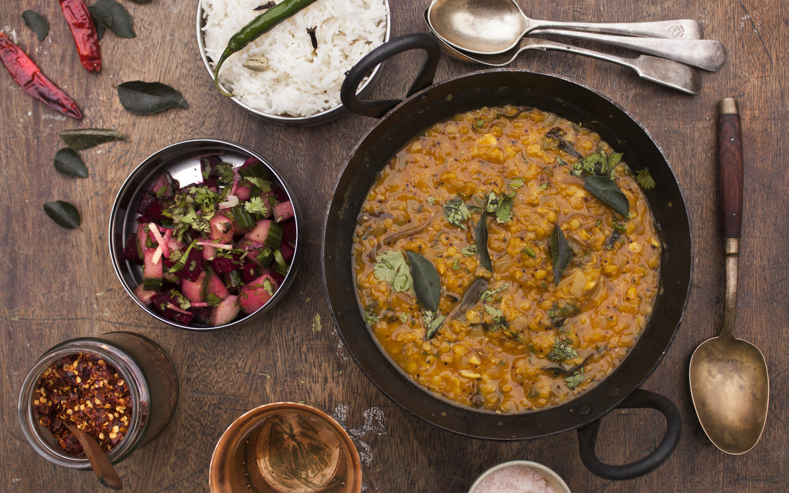 Yellow Dal With Curry Leaves