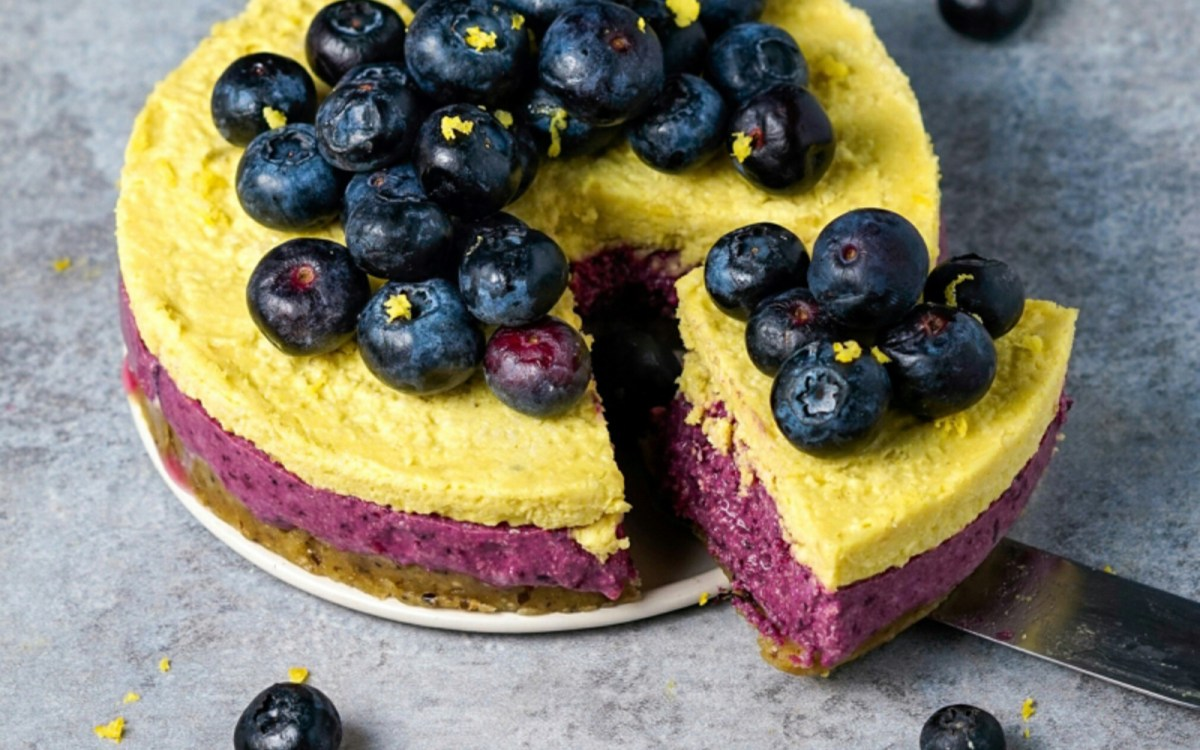 Blueberry Lemon Ice Cream Cake