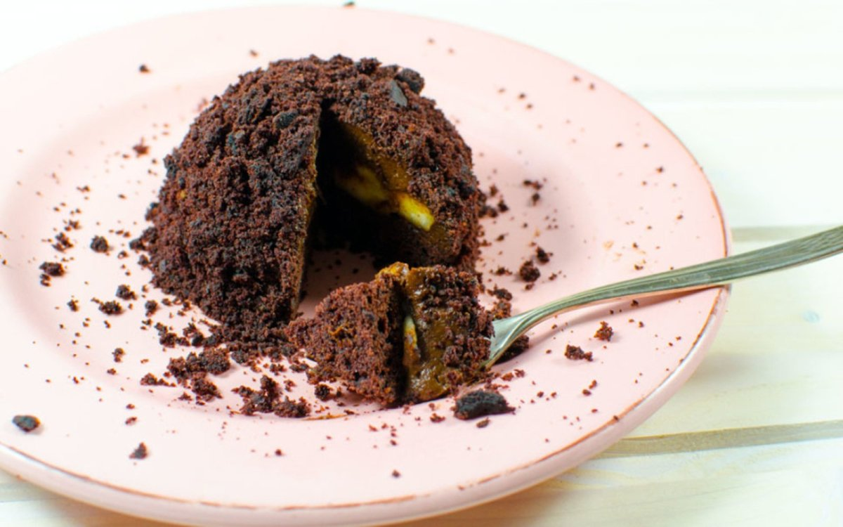 Vegan Chocolate 'Molecule' Cake With Avocado Mousse Center