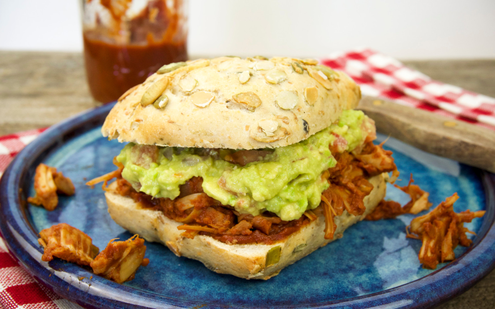 BBQ Pulled Jackfruit Sandwich