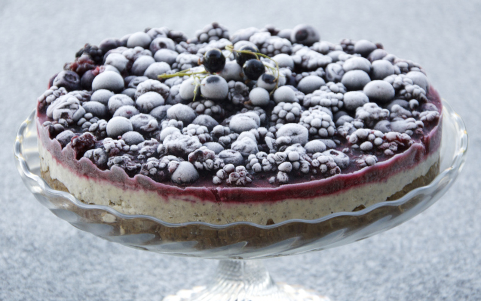 Vegan Semifreddo Cream Cake With Berries