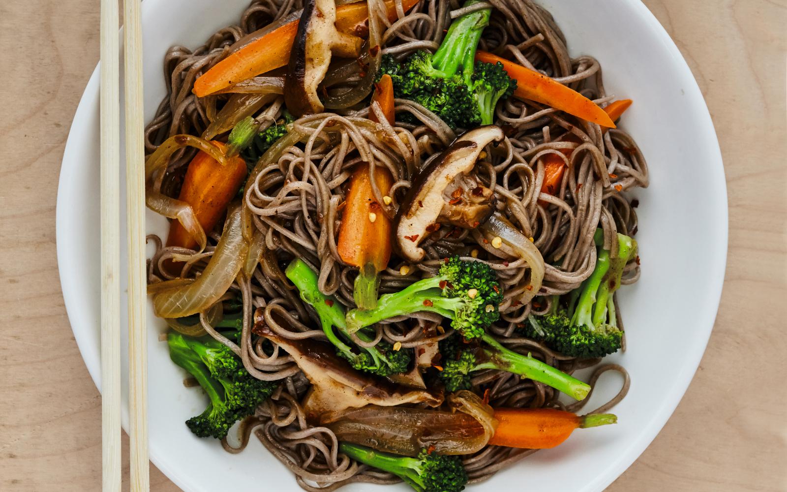 Five Spice Stir Fried Soba Noodles