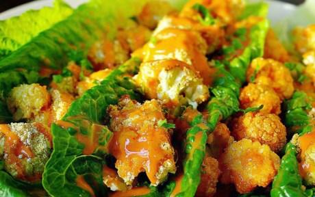 Bang Bang Cauliflower Lettuce Wraps