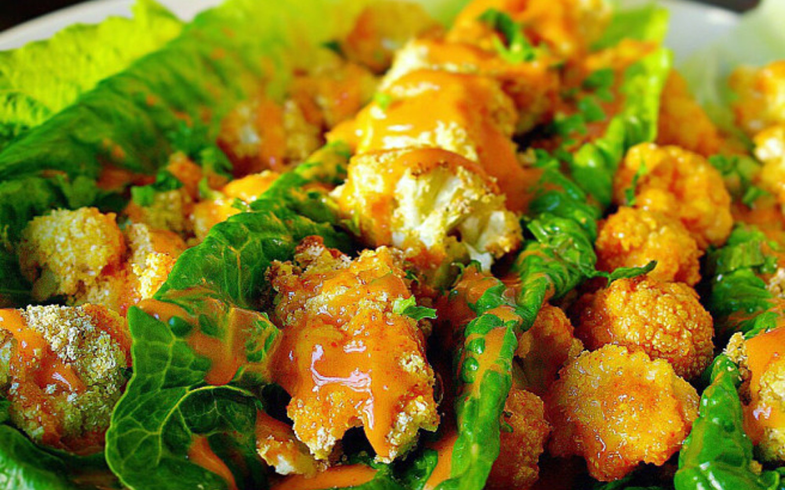 Bang Bang Cauliflower Lettuce Wraps