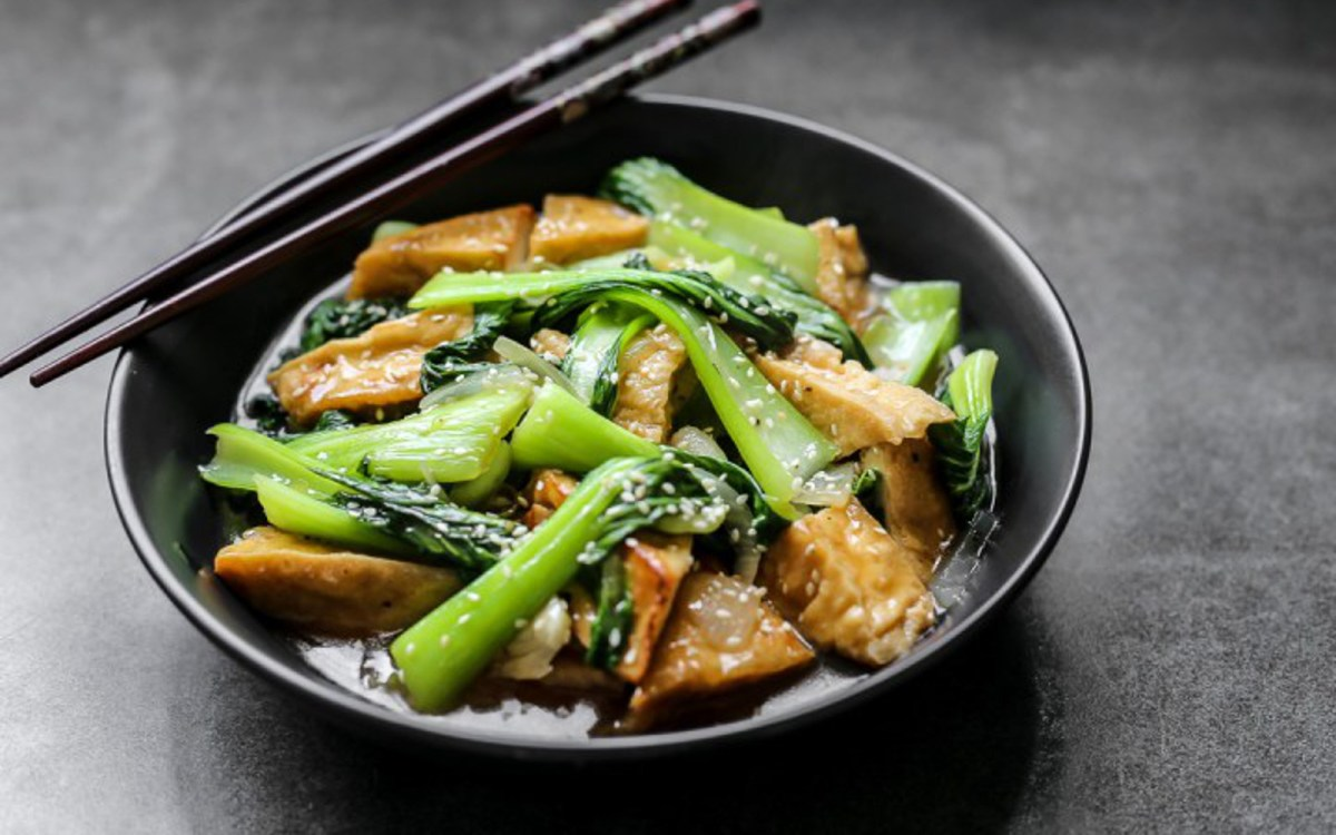 Healthier restaurant style chinese bok choy and tofu vegan one green planet for Garden fresh chinese vegan cuisine