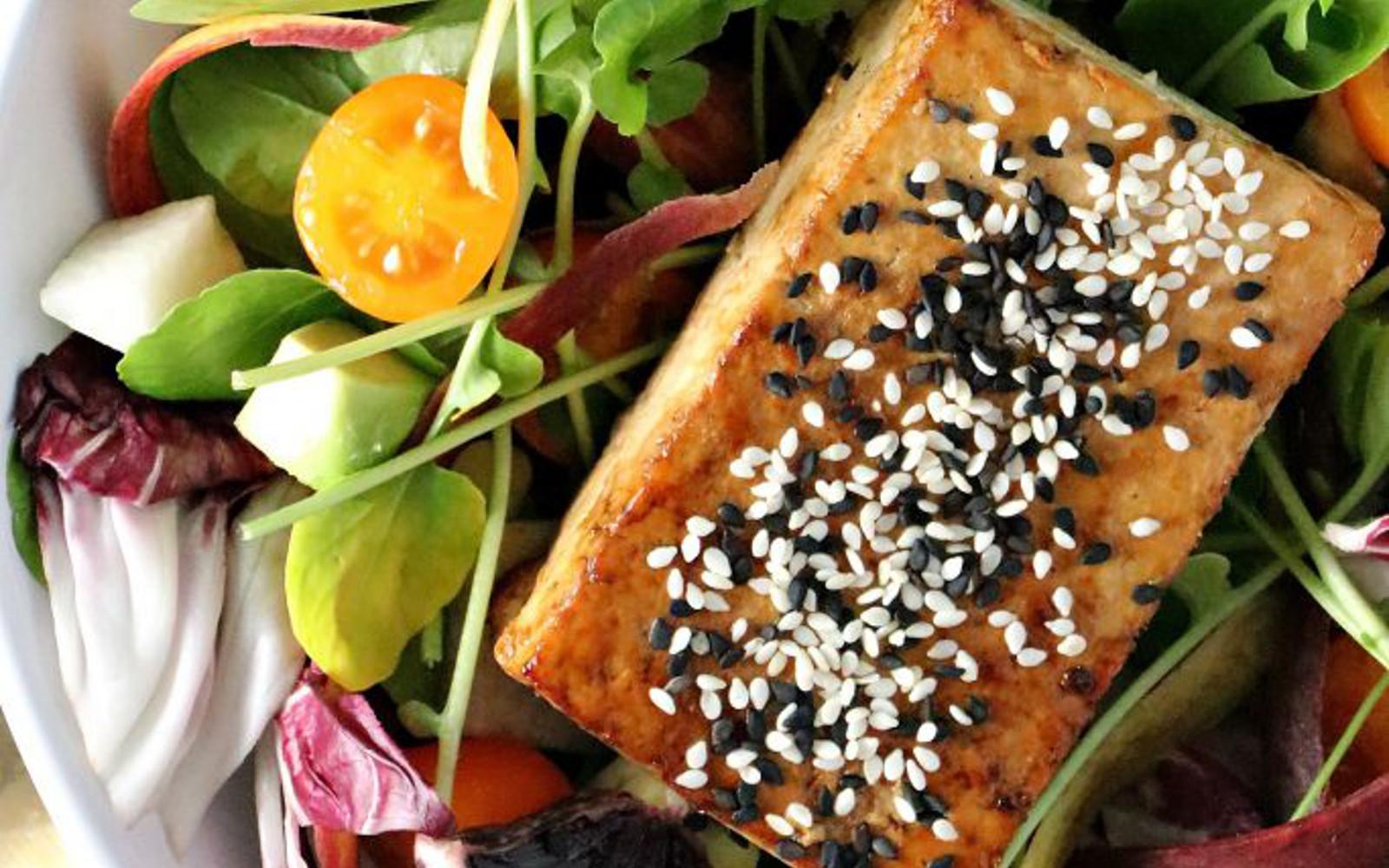 Orange Sesame Tofu Salad