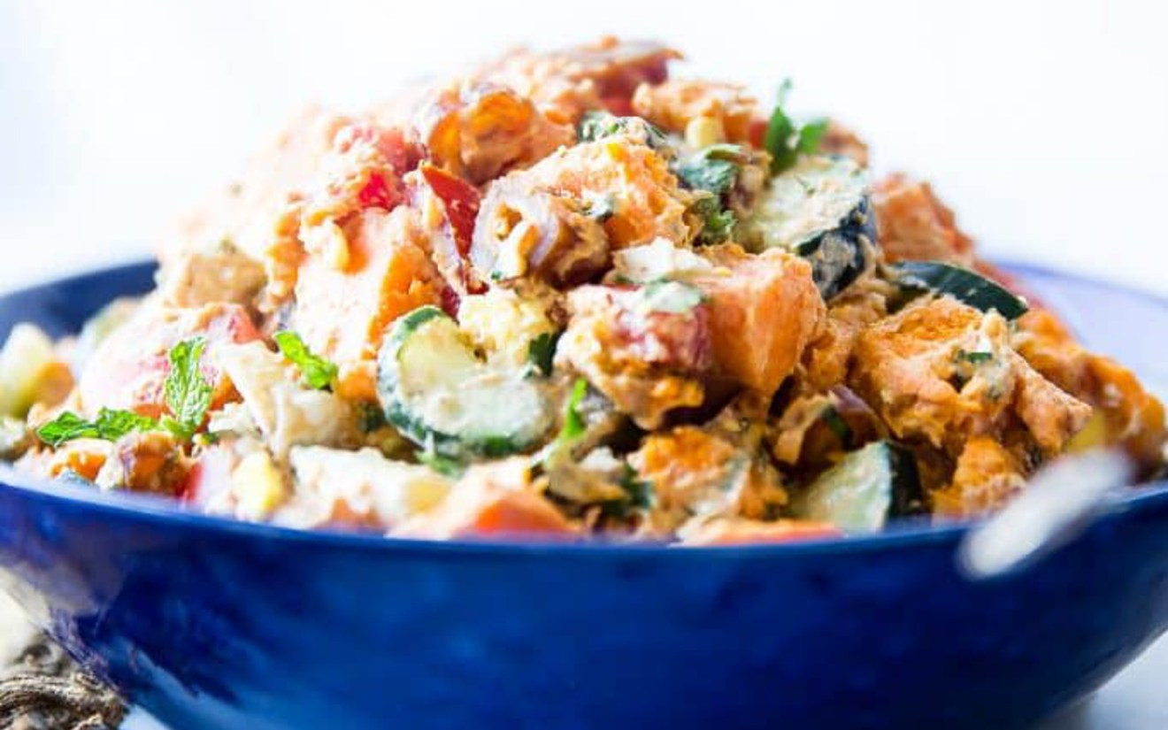 Vegan Moroccan Sweet Potato Salad