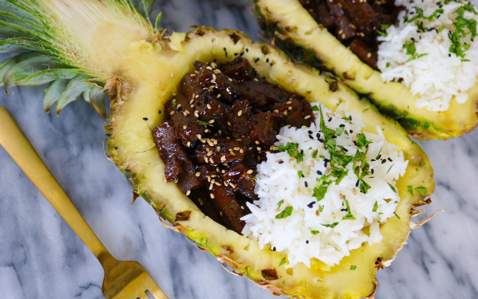 Teriyaki Pineapple Bowls