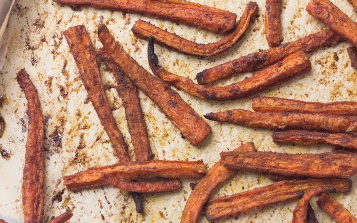 Spiced Carrot Fries [Vegan, Gluten-Free] - One Green ...