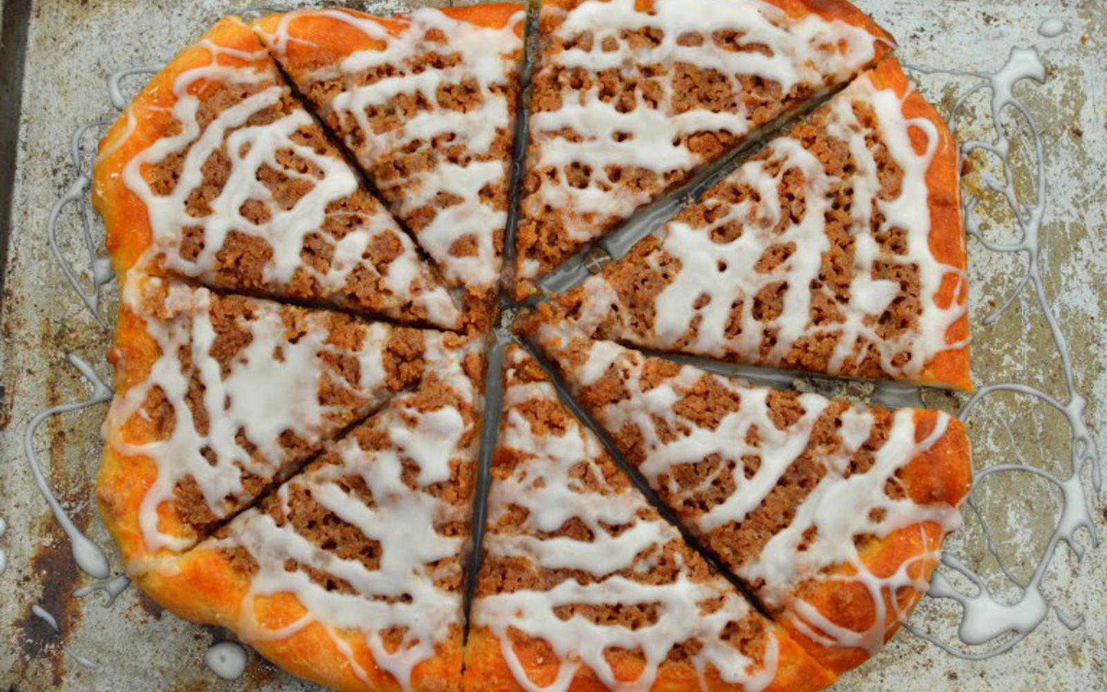 Vegan Cinnamon Crumb Dessert Pizza