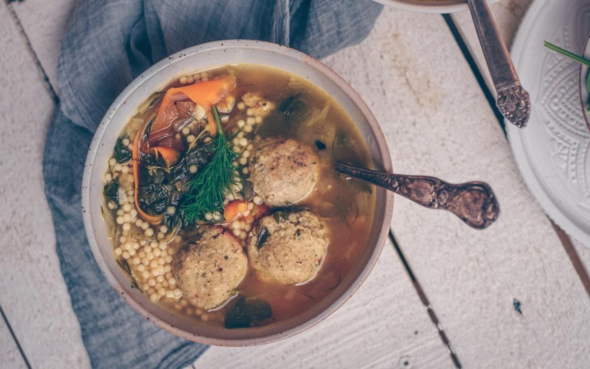 vegan Easy Italian Wedding Soup With White Bean Balls