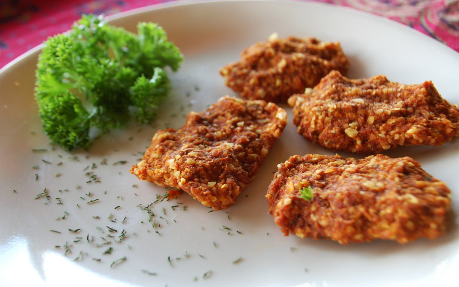 Vegan Raw 'Chicken' Nuggets