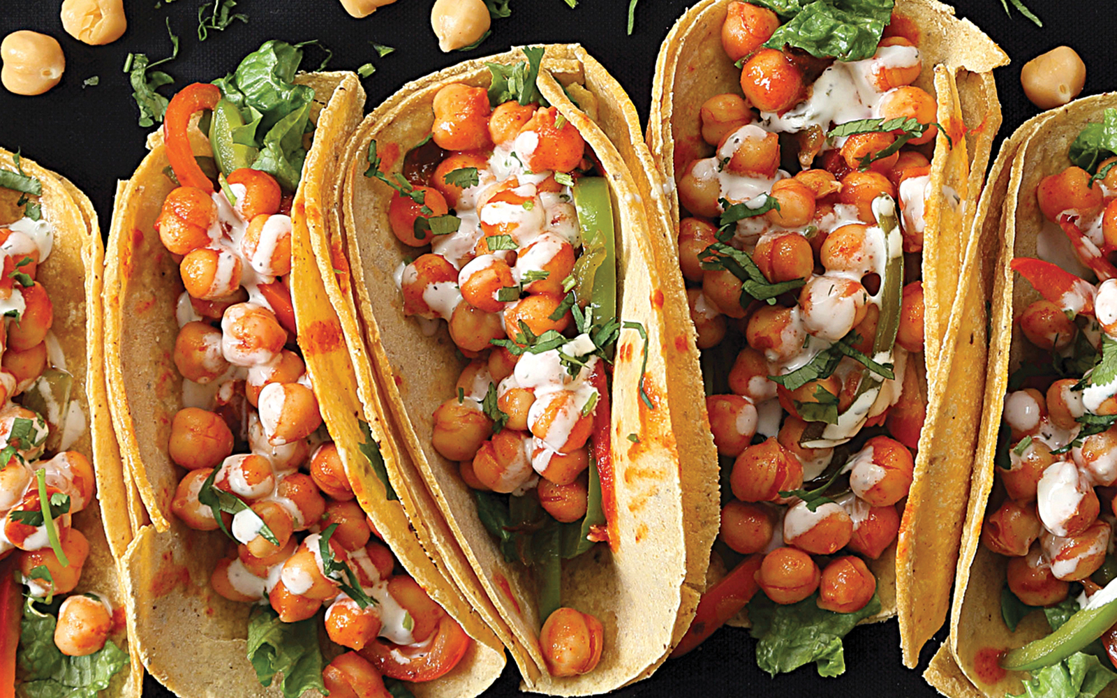 Vegan Gluten-Free Buffalo Chickpea Tacos With Celery Ranch Sauce