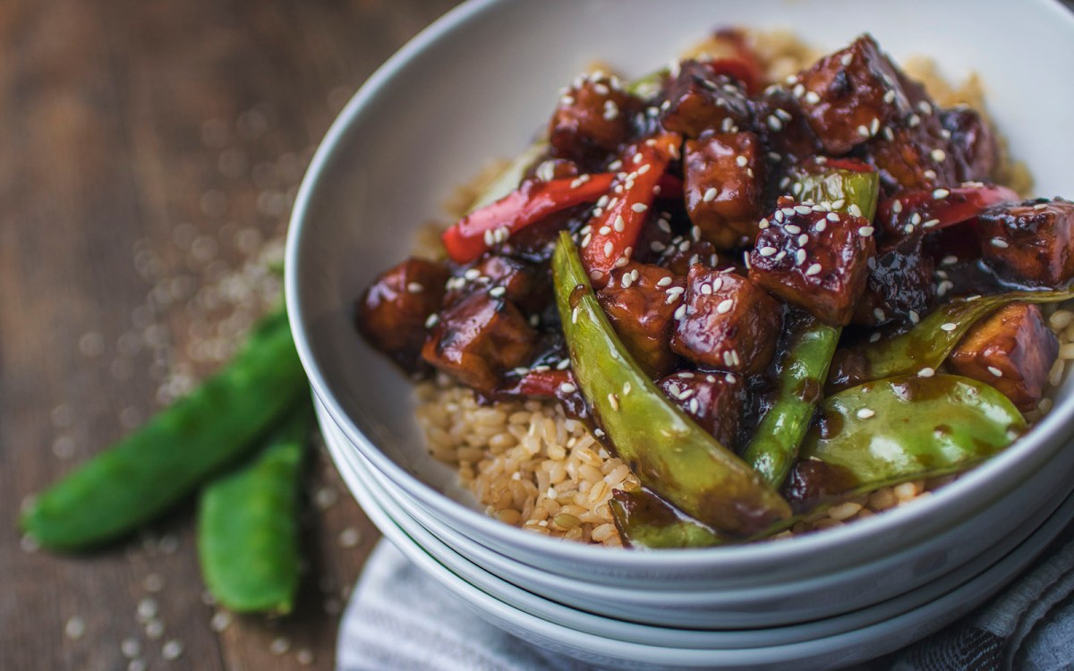 Vegan Sweet and Sour Tempeh