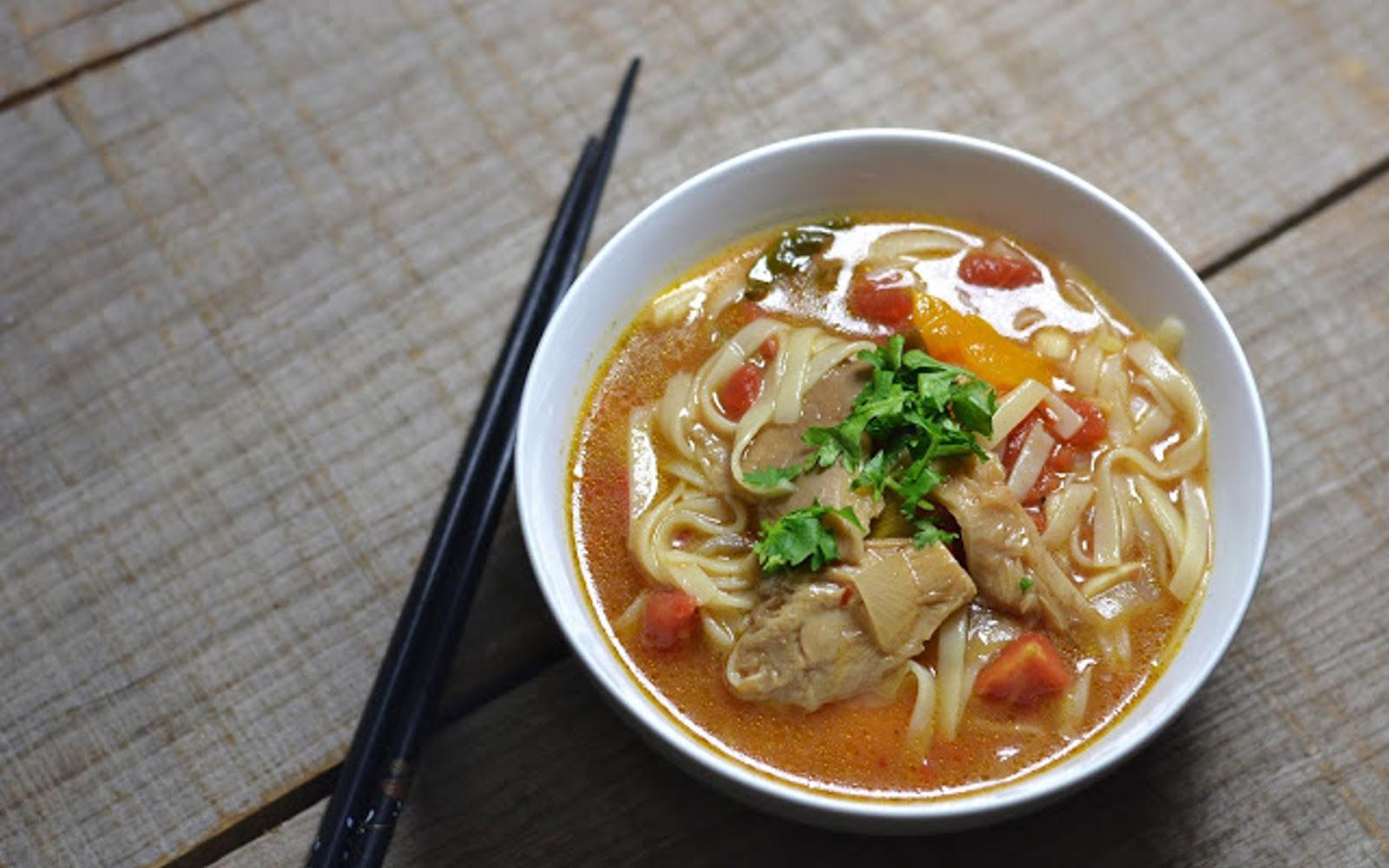 Oyster Mushroom Tom Yum Soup