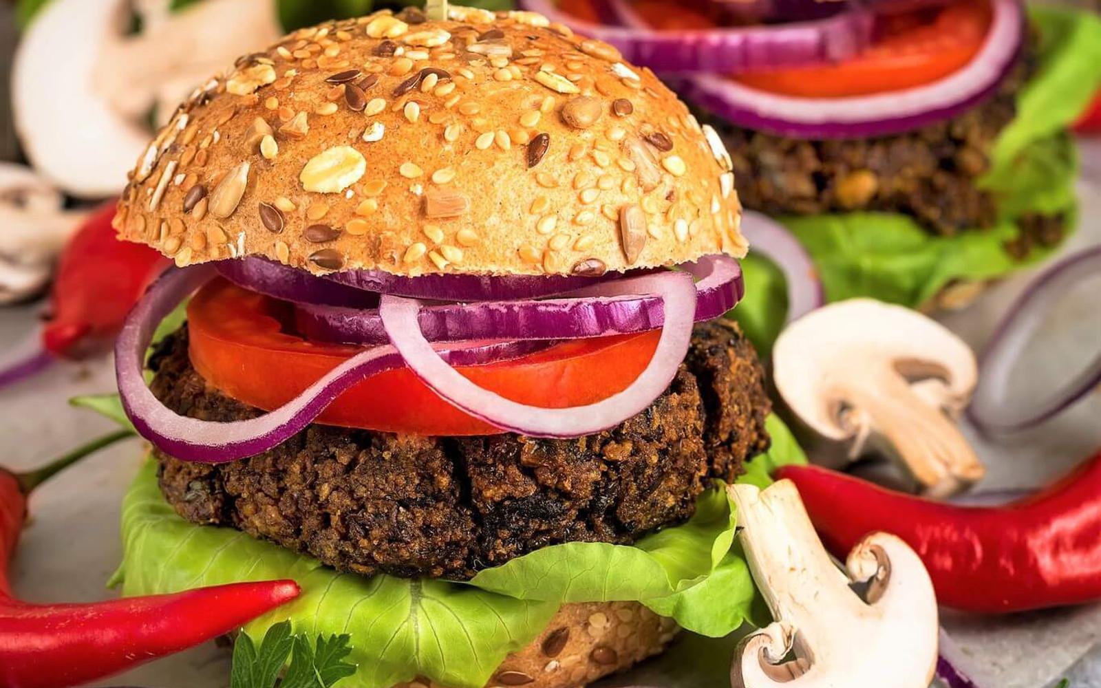 Vegan Gluten-Free Lentil and Mushroom Veggie Burgers