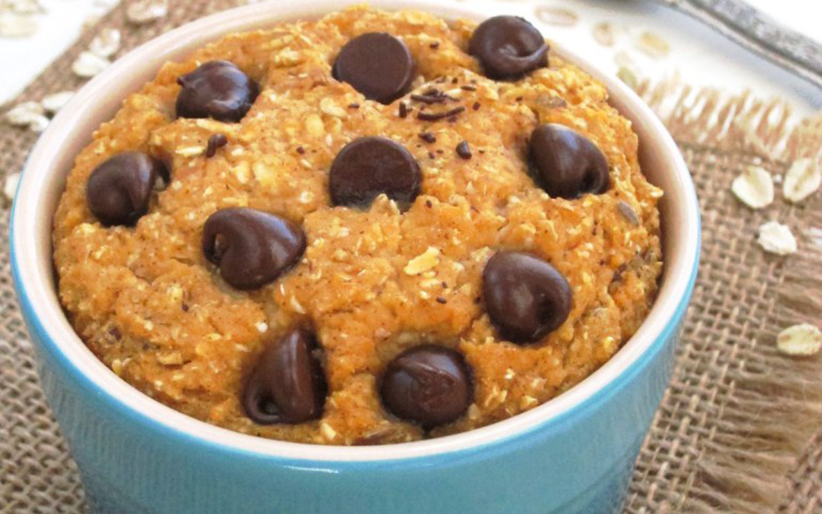 Vegan Gluten-Free Sweet Potato Chocolate Chip Baked Oatmeal