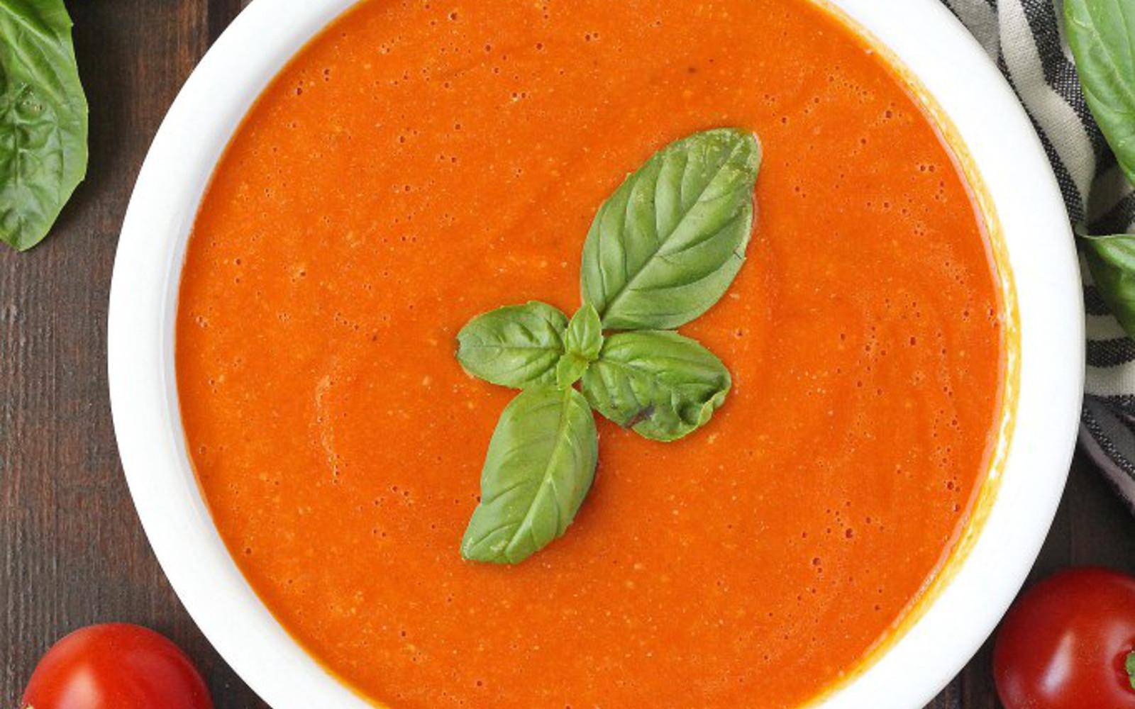 Vegan Grain-Free Creamy Cherry Tomato Basil Soup