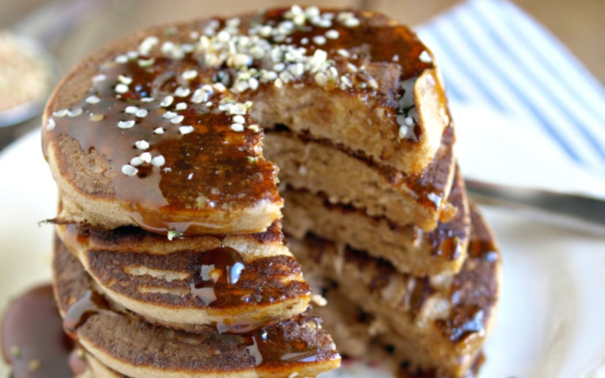Activated Buckwheat and Hempseed Blender Pancakes