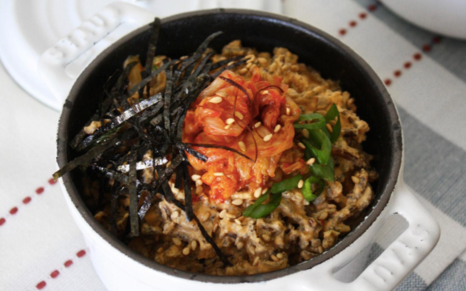 Raw Kimchi Risotto [Vegan]