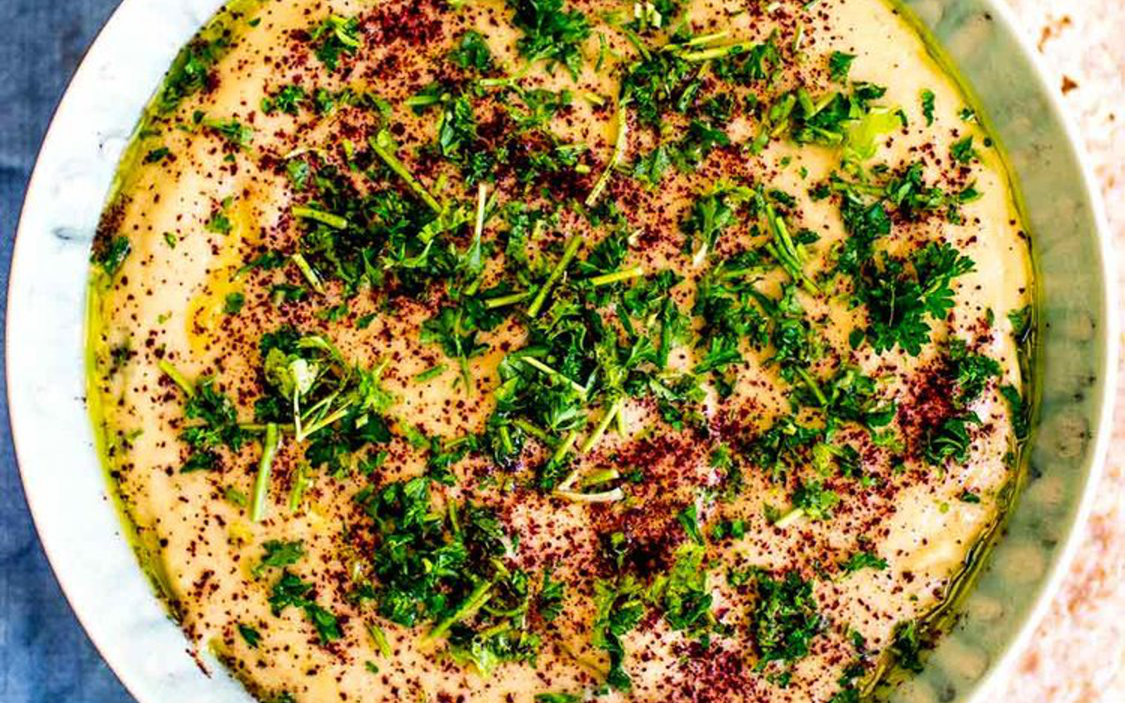 Vegan Gluten-Free Roasted Eggplant Dip with parsley and sumac