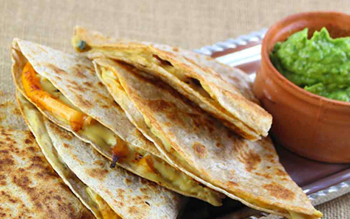 Cheesy Cashew Quesadillas