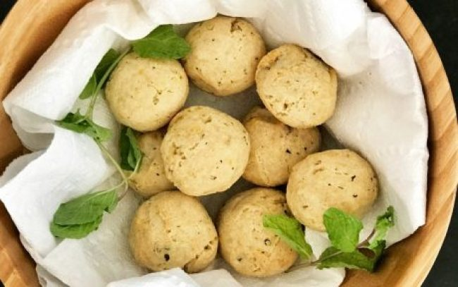 Vegan Gluten-Free Paleo Dinner Rolls with herbs to garnish