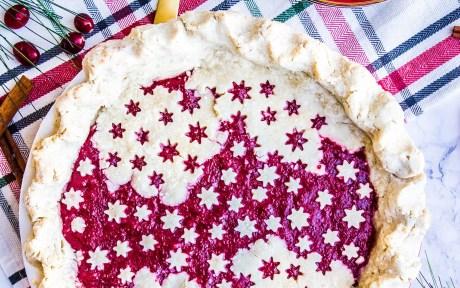 Vegan Gluten-Free Holly Jolly Sangria Pie