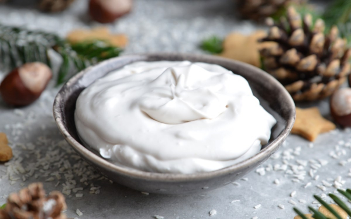 Vegan 3-Ingredient Coconut Brandy Cream