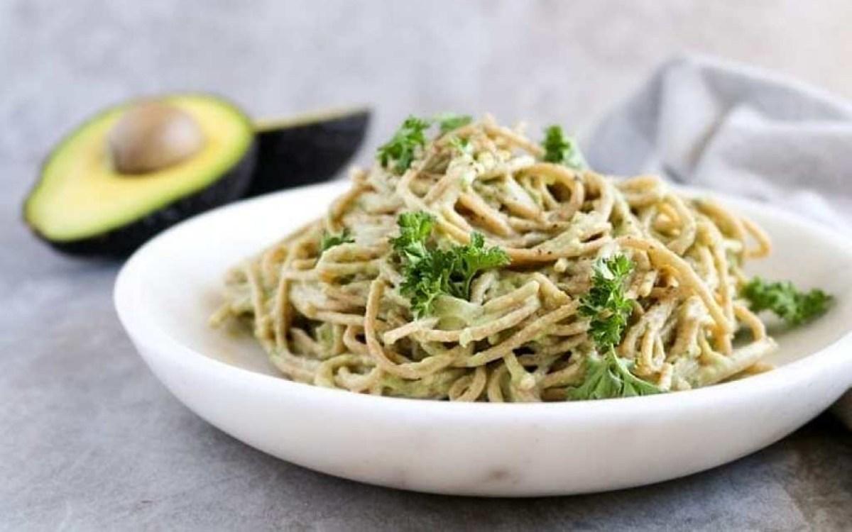 Vegan High-Protein Creamy Tofu and Avocado Pasta